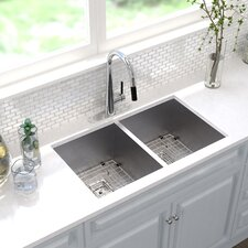 "Pax™ 31.5"" x 18.5"" Double Basin Undermount Kitchen Sink"