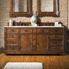 Breen 71 Double English Burl Bathroom Vanity Set by Darby Home Co