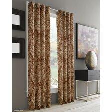 Bayman Paisley Room Darkening Grommet Single Curtain Panel