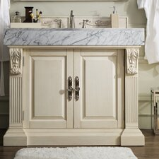 Pennell 42 Single Vintage Vanilla Bathroom Vanity Set by One Allium Way