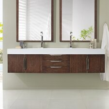 Hukill 72 Double Coffee Oak Bathroom Vanity Set by Brayden Studio