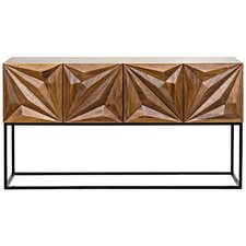 Zurich Metal Console Table by Noir