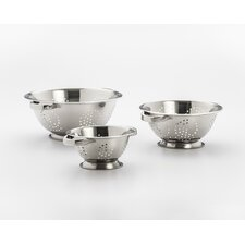 3 Piece Stainless Steel Colander Set