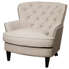 Emma Tufted Back Fabric Chair and a Half by New Pacific Direct