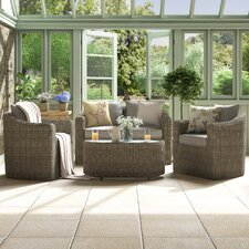 Bunbury 4 Seater Sofa Set with Cushions