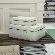 2 Piece Decorative Mop Inlay Box Set