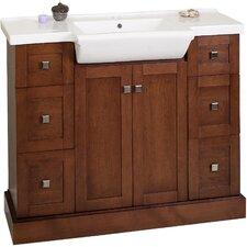Noblestown Floor Mount 40 Single Bathroom Vanity Set by Darby Home Co