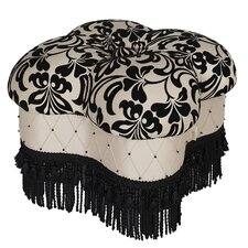 Gothic Hand-Beaded Ottoman
