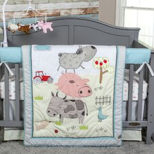Farm Stack 4 Piece Crib Bedding Set