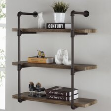 3 Tier Industrial Pipe Wall Shelf by 17 Stories