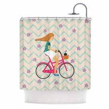 Cristina Bianco Bicycle Ride Shower Curtain