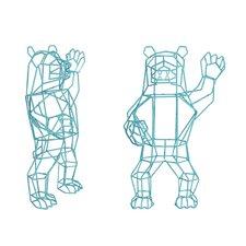 Marching Bear Figurine