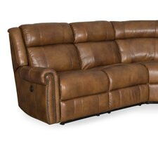 Esme Leather Power Motion Loveseat with Power Headrest