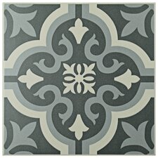 "Lima 7.75"" x 7.75"" Ceramic Patterned/Field Tile in Gray"
