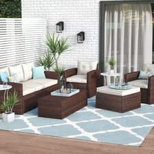 Sanor 5 Piece Deep Seating Group with Cushion