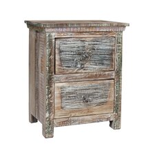 Desirae 2 Drawer Nightstand by Bloomsbury Market