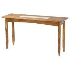 Travertine Console Table by William Sheppee