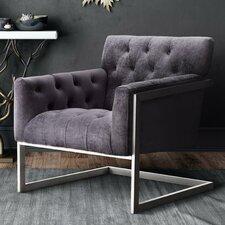 Kai Velvet Club Chair by Everly Quinn
