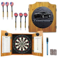 Black Camaro Dart Cabinet in Medium Wood by Trademark Global