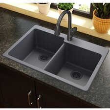 "Quartz Classic 33"" x 22"" Kitchen Sink"