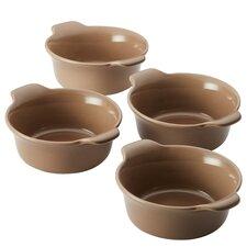 Vesta 4 Piece Round Stoneware Ramekin Set