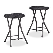 Bastian Round Metal Folding Stool (Set of 2)