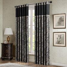 Pokanoket Paisley Rod Pocket Curtain Panels (Set of 2)