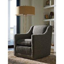Zavala Barrier Hourglass Pattern Swivel Armchair by Lexington