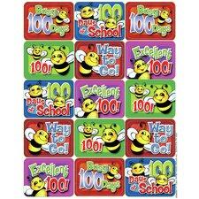 100 Days Of School Bees Success Sticker (Set of 4)