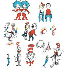Cat in The Hat Characters 2 Sided Bulletin Board Cut Out