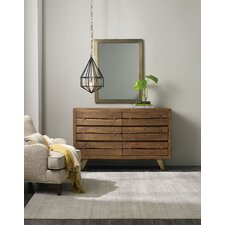 Transcend 6 Drawer Double Dresser with Mirror by Hooker Furniture