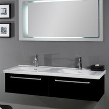 Play 57 Wall Mounted Bathroom Sink with Overflow by Althea by Nameeks