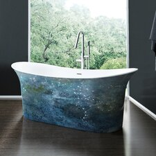 Cyclone 66 x 31.75 Freestanding Soaking Bathtub by A&E Bath and Shower