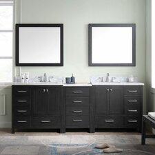 Caroline Premium 90 Double Bathroom Vanity Set with Mirror by Virtu USA