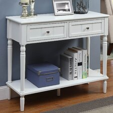 French Country 2 Drawer Console Table by Convenience Concepts