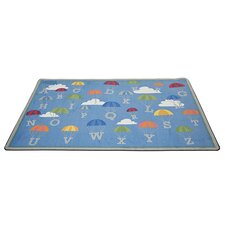 P Is for Parachute Blue Area Rug