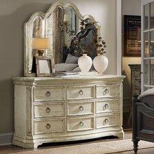 Auberose 9 Drawer Dresser with Mirror by Hooker Furniture