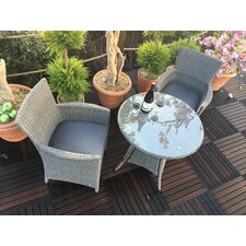 Paris 2 Seater Bistro Set with Cushions