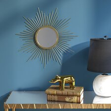 Sunburst Metal Wall Mirror