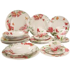 30 Piece Dinnerware Set, Service for 6