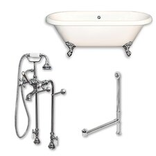 Acrylic 60 x 29 Freestanding Soaking Bathtub by Cambridge Plumbing