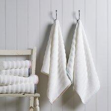 100% Cotton Ribbed Linen Border Hand Towel