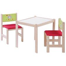 3-tlg. Kindertischgruppe-Set Waldhochzeit