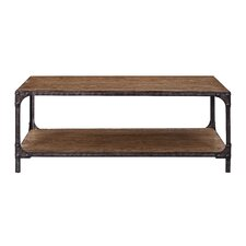 Irwin Wood and Metal Coffee Table