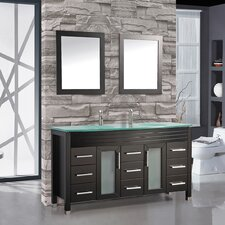 Figi 63 Double Sink Bathroom Vanity Set with Mirrors by MTD Vanities