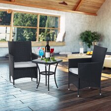Webb 2 Seater Bistro Set with Cushions