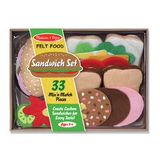 33-Piece Felt Food Sandwich Set by Melissa & Doug