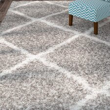 Hampstead Grey/Ivory Shag Area Rug