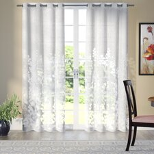 Stanton Nature/Floral Sheer Grommet Curtain Panels (Set of 2)