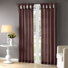 Rivau Solid Semi-Sheer Tab top Single Curtain Panel